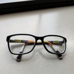 Coach black julayne prescription eyeglasses